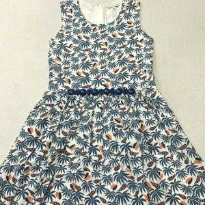 Little Marc Jacobs Blue Beaded Heart Feather Dress
